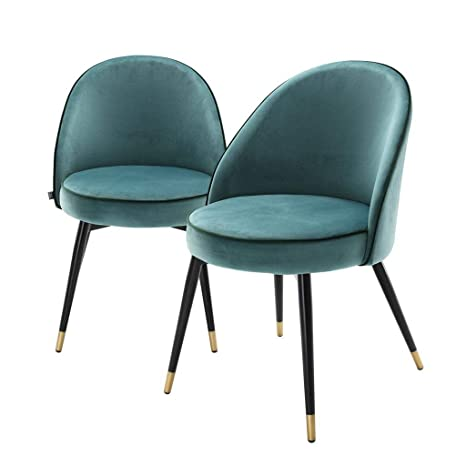Amazon.com: Eichholtz Cooper - Juego de 2 sillas de comedor ...