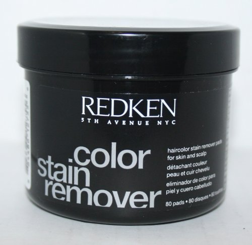 REDKEN Haircolor Stain Remover Pads for skin and scalp 80pads by REDKEN