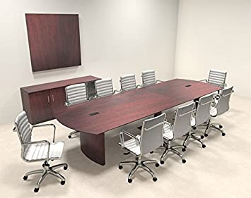 Amazoncom Modern Contemporary Feet Conference Table MTMED - Contemporary modern conference table