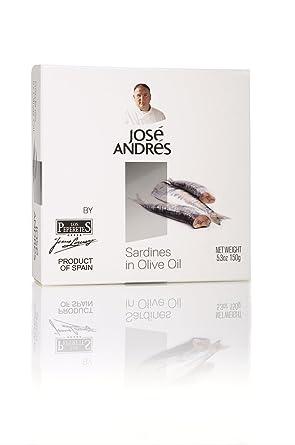 Jose Andrés Alimentos Sardinas en aceite de oliva, 5,3 onzas ...
