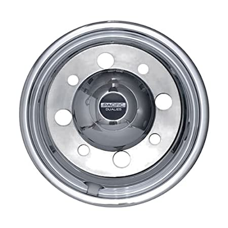 Pacific Dualies 37-2950 19.5 Polished Stainless Steel Wheel Simulator Front Tag Axle Kit for 2014 Earlier International Truck RV Motorhome