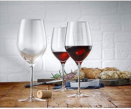 WMF Easy Plus Juego de 6 Copas para Vino Tinto, Vidrio
