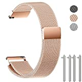 NotoCity Milanese Band Replacement Quick Release Stainless Steel Watch Band 14mm 16mm 18mm 20mm 22mm Wrist Band for Men&Women - 14mm Rosegold