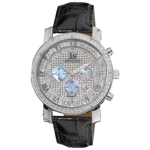 Joshua and Sons Men's JS-28-01 Dazzling Diamond Chronograph Watch ()