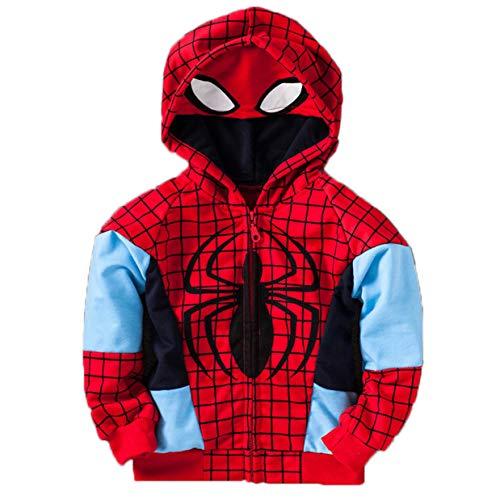Iron Man Captain America Zip Up Boys Hoodie Zipper Sweatshirt Coat Jacket Digital Printing Masked Tops Cosplay 3-8 Years]()