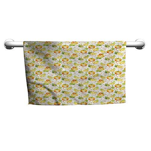 flybeek Art Towel Pumpkin,Ornate Spider Web Halloween,Beach Towel for dad