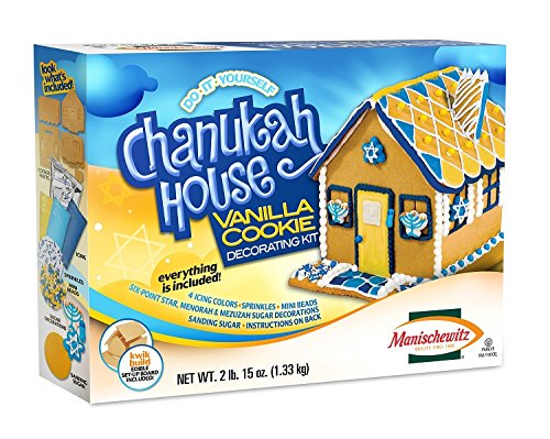 Manischewitz Do-It-Yourself Chanukah House Vanilla Cookie Decorating Kit - Net Wt. 2lb. 15oz(1.33 kg) by Manischewitz (Image #1)
