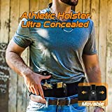 SUFEINI Belly Band Holsters Concealed Carry - Athletic Gun Holster Belt for Women & Man Running, Jogging, Hiking with Mag and Phone Pouch for Glock, Sig Sauer, Beretta, S&W M&P, Ruger, Revolver