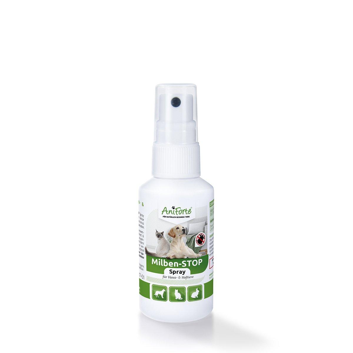 aniforte milben stop spray 50 ml katzen hunde haus und. Black Bedroom Furniture Sets. Home Design Ideas