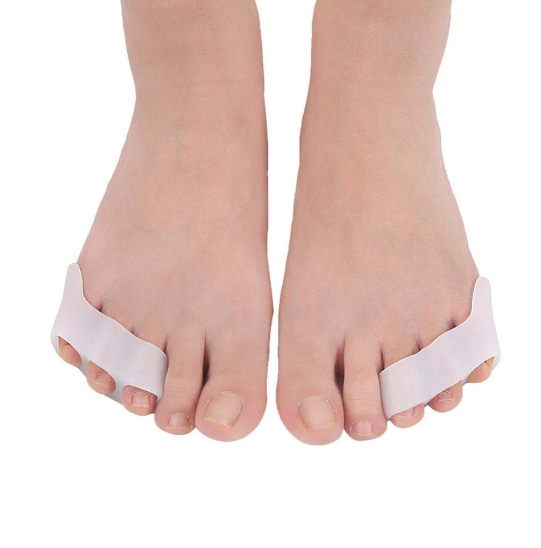 Alonea Bunion Corrector - Three Hole Small Toe Varus Toe Toe Correction Valgus Overlapping Toe Separator Spacers Straighteners Splint Aid Surgery Treatment (White ❤️)