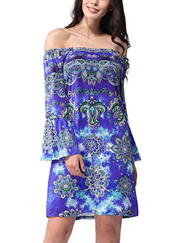 RUIYIGE - Vestido - para mujer Azul