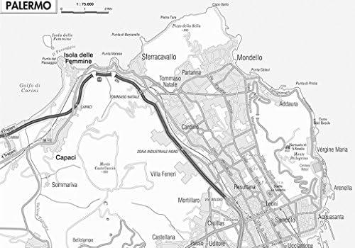 Cartina Sicilia Mondello.Sicilia Carta Regionale Murale 97x70 Cm Belletti Amazon It Cancelleria E Prodotti Per Ufficio