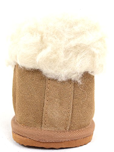 Mesdames/Femmes laine doublure avec dessus en daim
