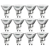 Luxrite LR20590 (12-Pack) 50W/GU10/120V 50-Watt MR16 Halogen Light Bulb, Glass Cover, Dimmable, 450 Lumens, GU10 base