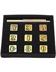 Metal Stamping Kit, 13mm Metal Stamp Punch Set Number 0~8 Die Tool Pressing Kit for Stamping On Leather Plastic Soft Metal