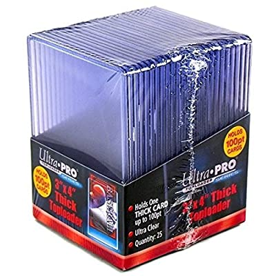 2 Ultra Pro 100pt Top Loaders - 25 100 Pt Toploaders Per Pack (50 Total) - Thick Baseball, Football, Basketball, Hockey, Gaming: Sports & Outdoors