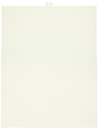 (Darice 7 Mesh Ivory Plastic Canvas - Create a Variety of Fun Plastic Canvas Crafts Including Bookmarks, Picture Frames, Pins and More - 1 Sheet, 7 Holes Per Inch, 10.5