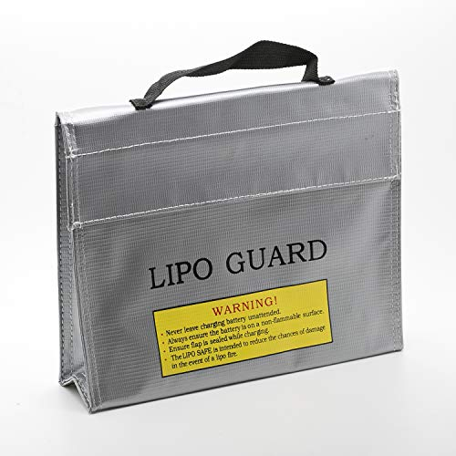 ExpertPower LiPo Fireproof Explosionproof Safety Bag for Lithium Battery & DJI Mavic & DJI Phantom 3 Battery Guard Charging and Storage Safe Bag (9.45 2.55 7.10 Inches)