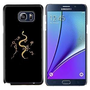 TECHCASE---Cubierta de la caja de protección para la piel dura ** Samsung Galaxy Note 5 ** --serpientes que significa negro negro profundo mal