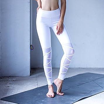 HANLILI Las Mujeres Pantalones de Yoga Dry Fit Sport ...