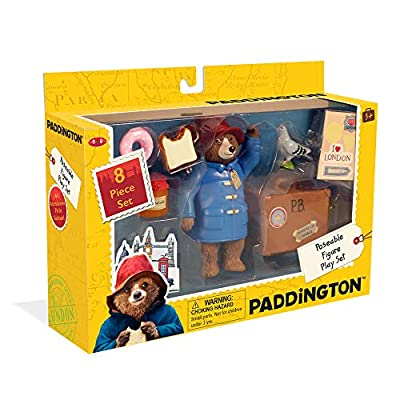 YOTTOY Paddington Bear Collection   Paddington Poseable Toy Figure Playset with Accessories, 8-Piece: Toys & Games