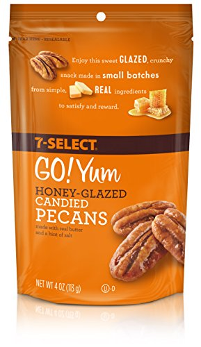 7-Select Honey Glazed Candied Pecans 4 oz, 6 (Honey Glazed Pecans)