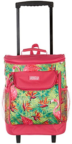 Leoma Lovegrove Soiree Rolling Cooler One Size Pink/green by Leoma Lovegrove