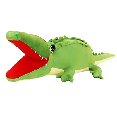 Toy Pillow Simulation Crocodile Plush Pillow Suitable for Bedroom Living Room Sofa Decoration Filled Animal Birthday Gift,105cm: Home & Kitchen