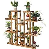 Solid Wooden Folding Flower Rack Balcony Living Room Multi-storey Wooden Flower Pot Rack Indoor Green Plant Shelf(carbon Baking Color)