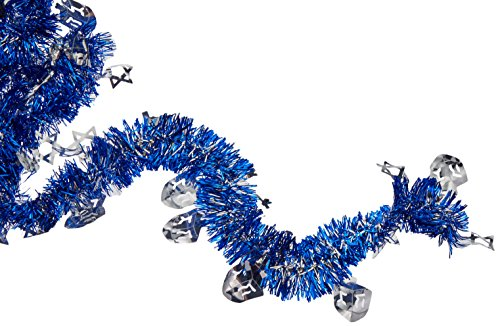 Hanukkah Blue Tinsel Foil Garland | Party Decoration -
