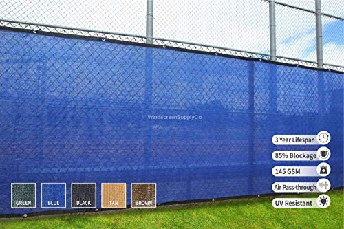 - Heavy Duty 6 ft. X 50 ft. Privacy Windscreen Fence Screen Mesh Tarps W/Binding and Grommets (2, Blue)