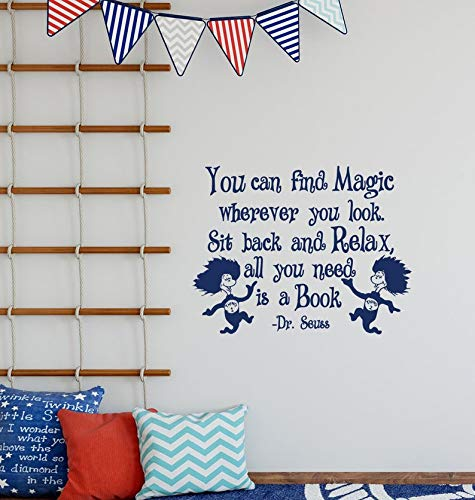 BYRON HOYLE You Can Find Magic Wherever You Look Dr Seuss Quote Vinyl Wall Decal Kids Dr Seuss Decoration Nursery Children Decor K185]()