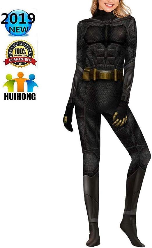 HUIHONG Batman Justice League Cosplay Disfraz Mujeres Hombres DC ...