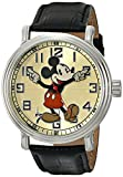 Disney Men's 56109 ''Vintage Mickey Mouse'' Watch with Black Leather Band