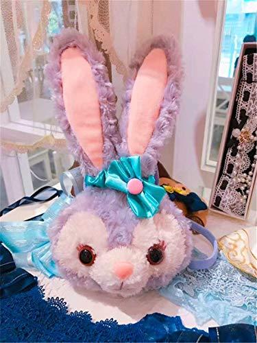 Heyuni.Plush Rabbit Plush Backpack Bunny Backpacks Rabbit Dolls Crossbody Bag Messenger Bag Rabbit Bag for Girls