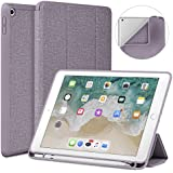 Soke New iPad 9.7 2018/2017 Case with Pencil Holder, Lightweight Smart Case Trifold Stand with Shockproof Soft TPU Back Cover and Auto Sleep/Wake Function for iPad 9.7 inch 5th/6th Generation, Violet