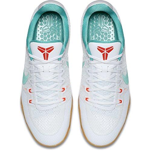 Nike Herren Kobe XI Basketballschuh Weiß / Washed Teal-Brt Crimson