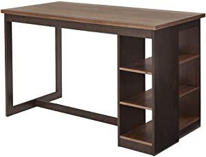 Progressive Furniture Counter Storage Table, Walnut/Chocolate