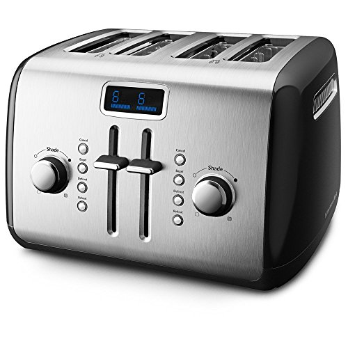 KitchenAid KMT422OB 4-Slice Toaster with Manual High-Lift Lever and Digital Display - Onyx Black