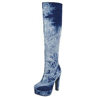 Damen Hohen Knielange Stiefel Blockabsatz Artfaerie Absatz nXN0Pk8wO