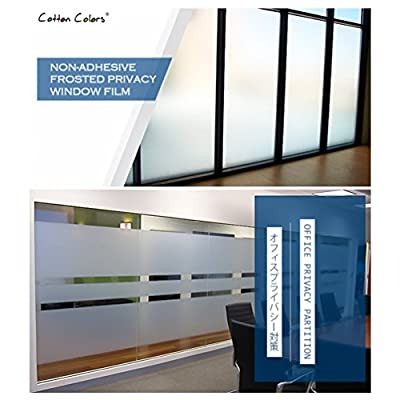 CottonColors Brand Frosted Window Film for Glass Static Privacy Decoration Films Self Adhesive for UV Blocking Heat Control Glass Stickers