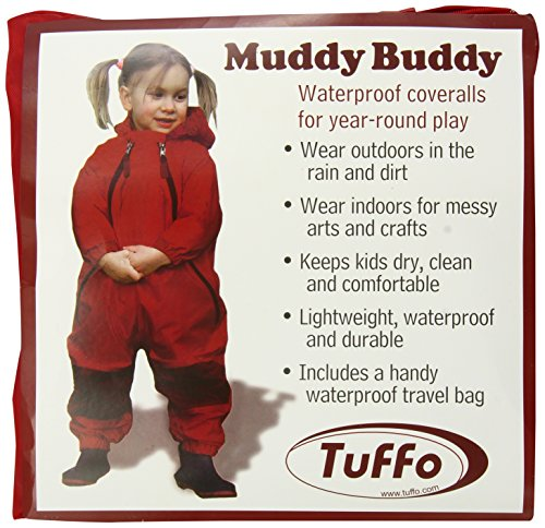 (Tuffo Muddy Buddy Coveralls, Red, 18 Months)