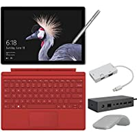 2017 New Surface Pro Bundle ( 6 Items ): Core i7 16GB 512GB Tablet, Surface Dock, Surface Type Cover Red (2016), Surface Pen Silver, Surface Arc Mouse Light Grey, Mini DisplayPort Adaptor
