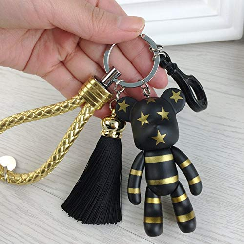 Amazon.com: Rarido Fashion New Leather Car Keychain Tassel ...