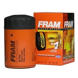 Fram PH6607 Extra Guard Passenger Car Spin-On Oil Filter (Pack of 2)
