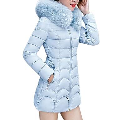 Fuibo Damen Warme Dicke Mäntel, Frauen mit Kapuze Outwear