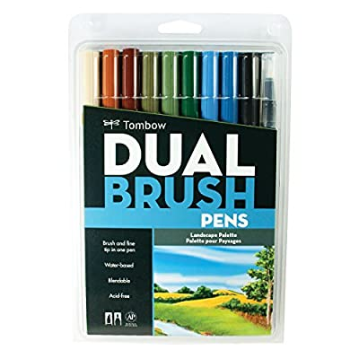 Tombow Dual Brush Markers, Landscape, 10-Pack from TOMBOW