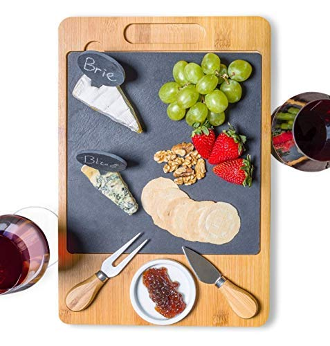 Cheese Board Set with Cutlery and Drawer | 12pcs - 15