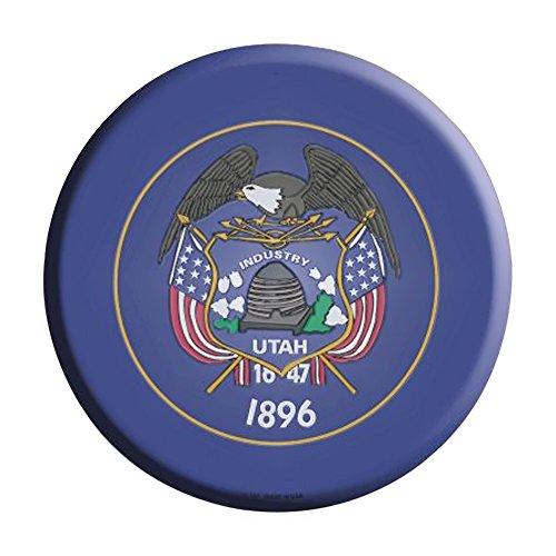 Smart Blonde Utah State Flag Metal Circular Parking Sign C-1