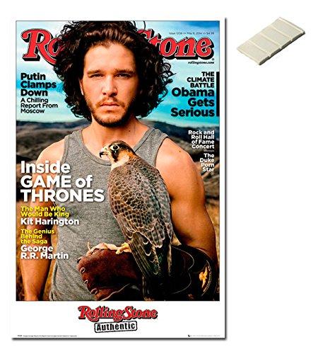 Bundle - 2 Items - Rolling Stone Kit Harington Game Of Thron